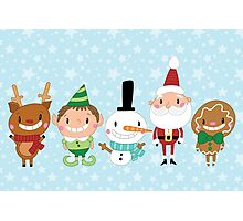 Christmas Crew - Blue - Scattered Photographic Print
