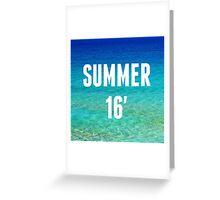 Summer 16 Greeting Card
