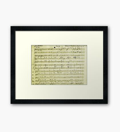 Dies Irae Mozart Framed Print