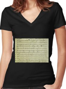 Dies Irae Mozart Women's Fitted V-Neck T-Shirt