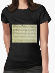 Dies Irae Mozart Womens Fitted T-Shirt