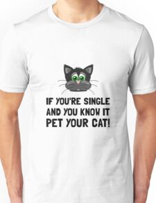 Single Pet Cat Unisex T-Shirt