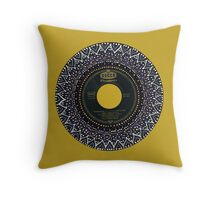 Vinyl Mandala Throw Pillow
