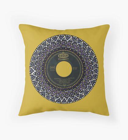 Vinyl Mandala Throw Pillow