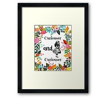 Alice in Wonderland, curiouser and Curiouser Framed Print