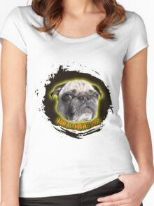Pug off...!!! Women's Fitted Scoop T-Shirt