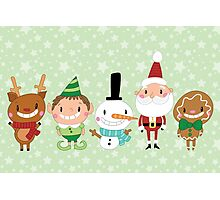 Christmas Crew - Green - Scattered Photographic Print