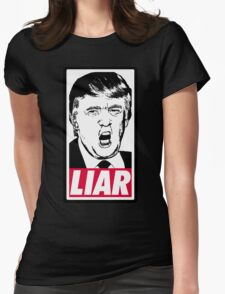 Trump - Liar Womens Fitted T-Shirt