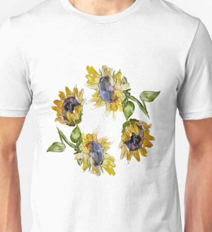 Sunflower Circle Unisex T-Shirt