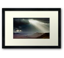 storm in mountains Framed Print