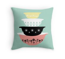 Pyrex Pretties Throw Pillow