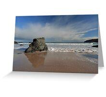 Rock Reflections on Sango Bay Greeting Card