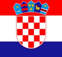 Croatia Flag Stickers Sticker