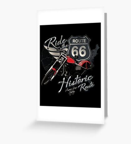 Travel - Motorcycle Ride the historic route 66 Greeting Card