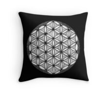 Flower of Life Dotwork Throw Pillow