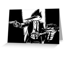 Mobsters  Greeting Card