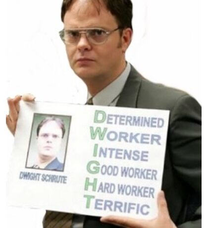 The Office- D.W.I.G.H.T.  Sticker