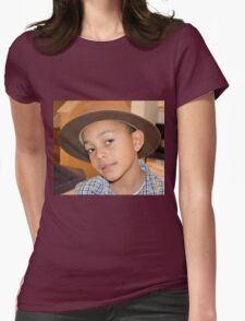 Little Boy in a Hat Womens Fitted T-Shirt