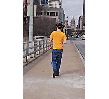 Taking a Walk in Austin texas Photographic Print