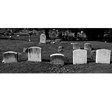 Cemetery Black & White  Photographic Print