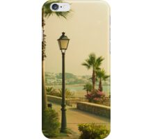 Boardwalk Hawaii, Wakiki, beach, palm trees iPhone Case/Skin