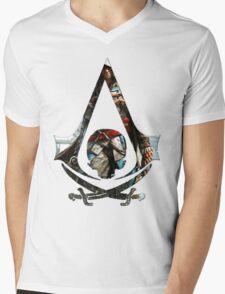 Black Flag Mens V-Neck T-Shirt