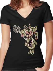 Inferno Nasus Women's Fitted V-Neck T-Shirt