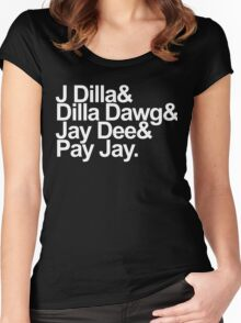 J Dilla - Won't Do Print Women's Fitted Scoop T-Shirt