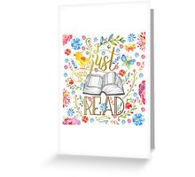 I Just Want To Read - White Floral Greeting Card