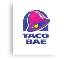 Taco Bae Parody T-Shirt Canvas Print