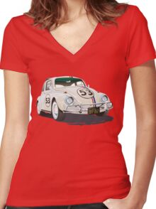 Herbie The Beetle Women's Fitted V-Neck T-Shirt