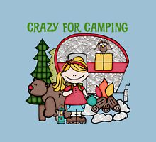 Blond Girl Crazy For Camping Vacations Classic T-Shirt