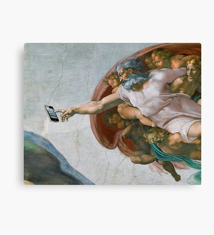 The Creation of Candycrush Canvas Print