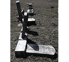 Cemetery Black & White  Photographic Print