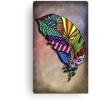 Feather Zentangle  Canvas Print
