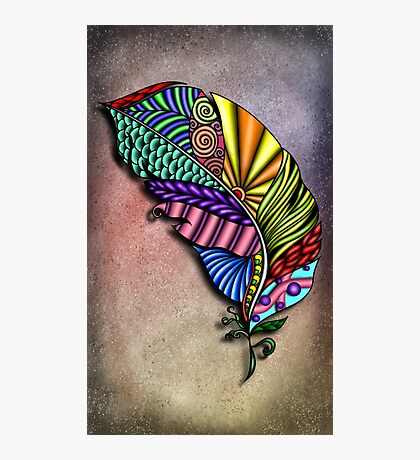 Feather Zentangle  Photographic Print