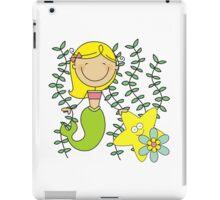 Blond Haired Ocean Mermaid With Starfish iPad Case/Skin