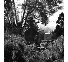 Cemetery Cross Black & White  Photographic Print