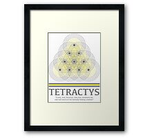 Tetractys - Gray and Yellow Framed Print