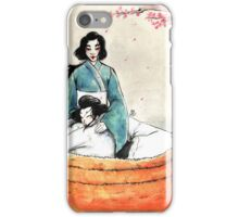 Under the cherry tree iPhone Case/Skin