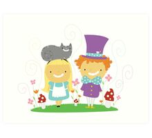 Alice and Friends  Art Print
