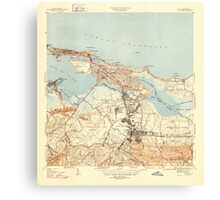 USGS TOPO Map Puerto Rico PR San Juan 362583 1947 30000 Canvas Print