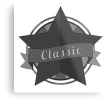 Vintage star with ribbon Metal Print