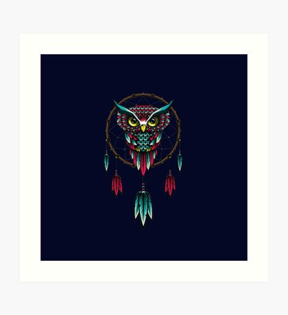 Owl Dreamcatcher  Art Print