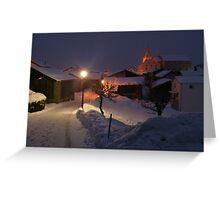Night Walk Greeting Card