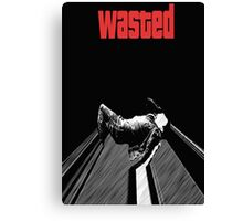 "Get The Alcohol ""Wasted"" Canvas Print"