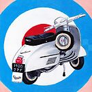 Scooter on Mod Target by Andy  Housham