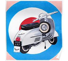 Scooter on Mod Target Poster