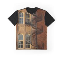 Red Brick Building Graphic T-Shirt
