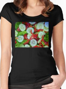 Healthy Food Women's Fitted Scoop T-Shirt